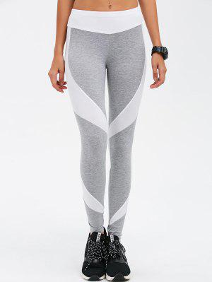 Slimming Stretchy Contrast Athletic Pants