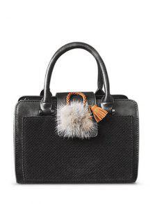 حقيبة يد أضاليا لوحة الجلد المدبوغ - رمادي