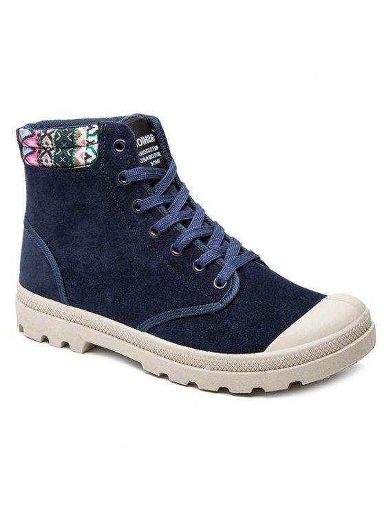 القبيلة نمط كتلة اللون التعادل حتى الأحذية - الأرجواني الأزرق 40