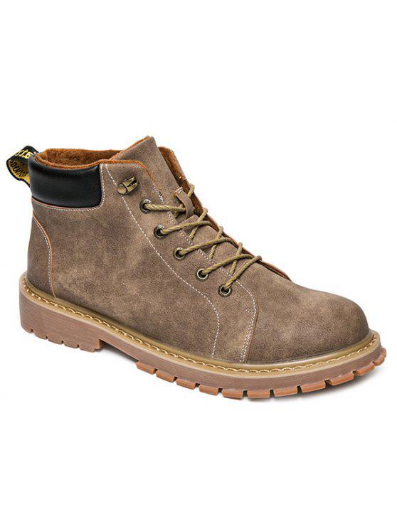 المعادن كتلة اللون التعادل حتى الأحذية - كاكي 41