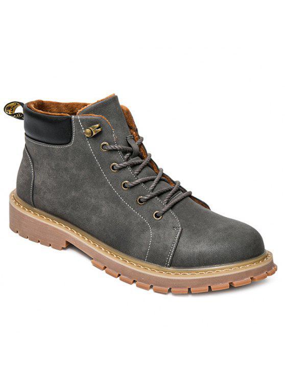 المعادن كتلة اللون التعادل حتى الأحذية - رمادي 40