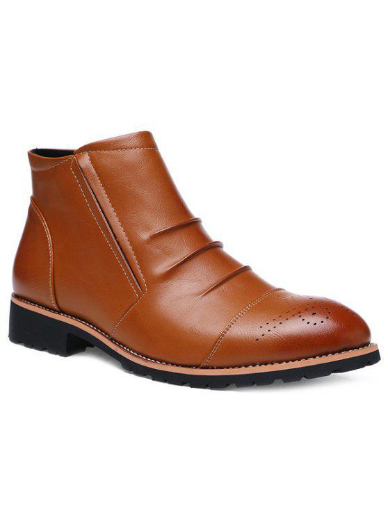 مطوي النقش البريدي الأحذية - بنى 43