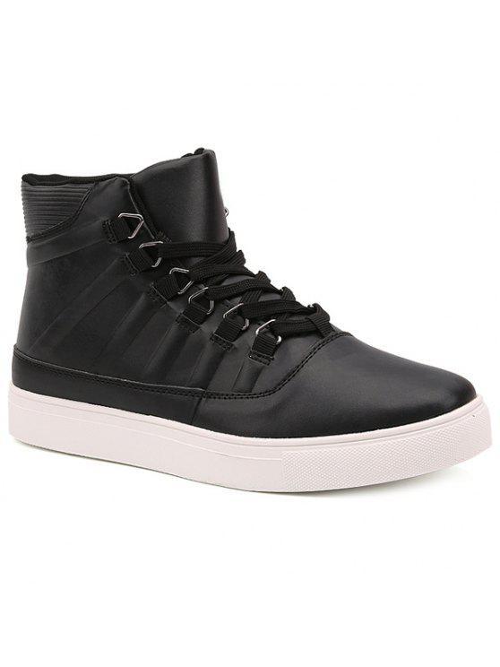 مخطط التعادل حتى بو الجلود الأحذية - أسود 44