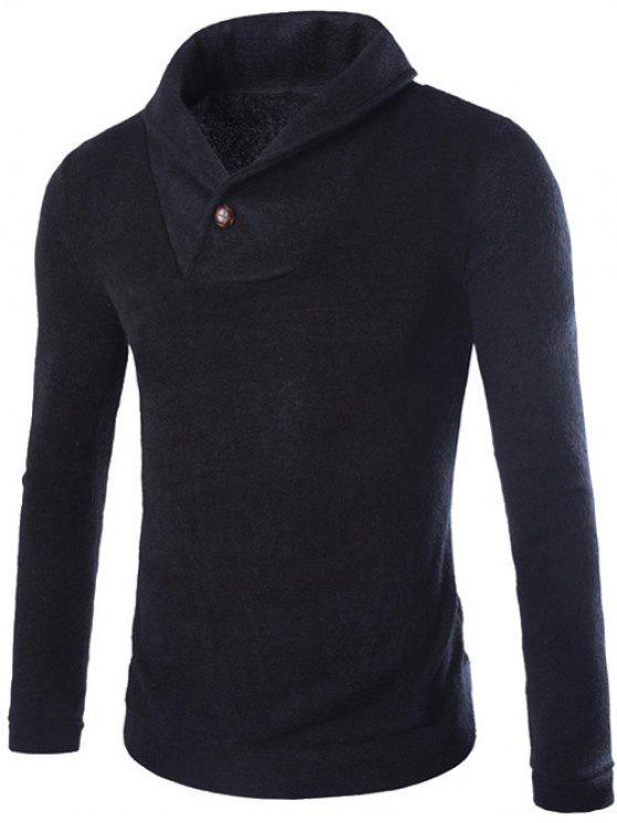Collo a scialle Pullover Maglione - Nero L