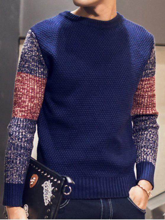 Color Block pullover girocollo Maglione - Cadetblue 2XL