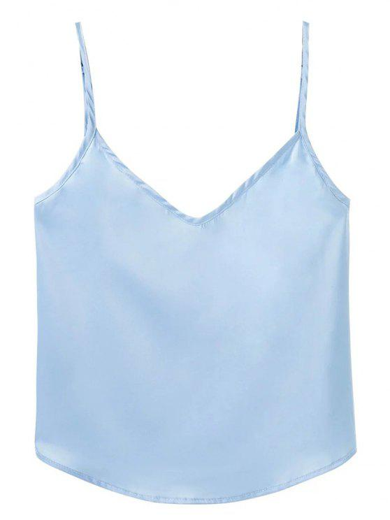 new Adjusted Satin Camisole - LIGHT BLUE L