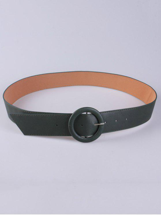 outfit PU Round Buckle Belt - GREEN