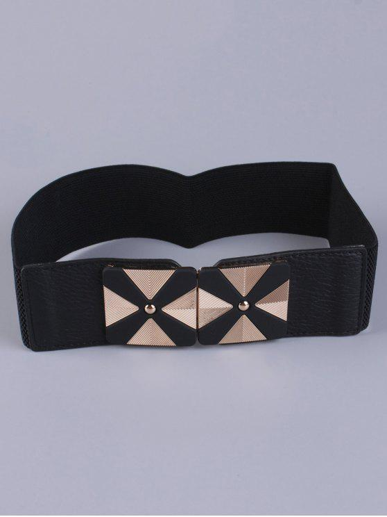 outfit Square Alloy Stretch Belt - BLACK