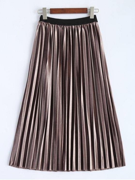 women's Accordion Pleat Skirt - COFFEE ONE SIZE