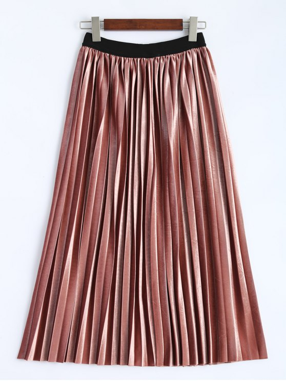 lady Accordion Pleat Skirt - DEEP PINK ONE SIZE