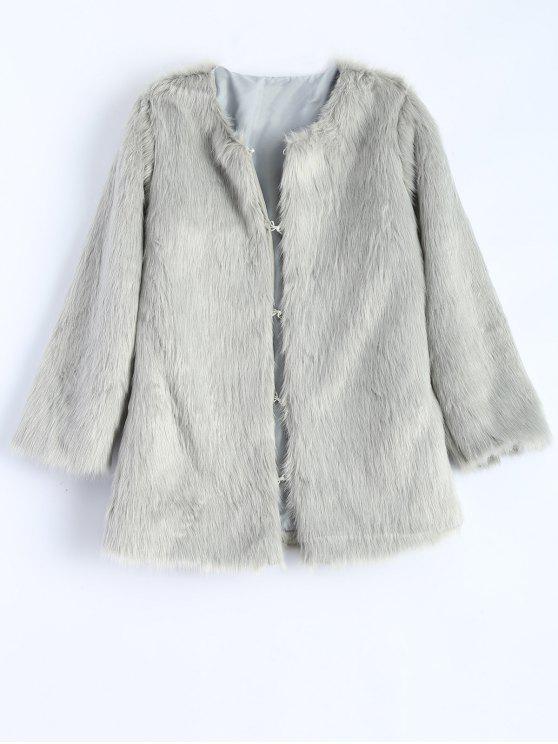 Manteau gris col rond