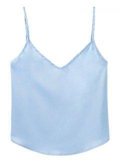 Adjusted Satin Camisole - Light Blue S