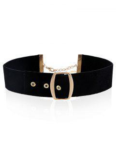 Belt Buckle Choker - Black
