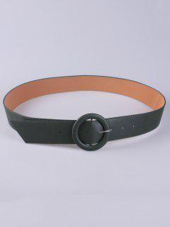 PU Round Buckle Belt - Green