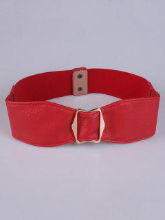 Bowknot Buckle Stretch Belt - Red