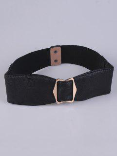 La Hebilla Del Bowknot Elástico Cintura - Negro