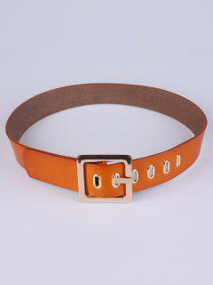 Square Buckle Belt - Chocolate