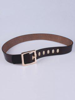 Square Buckle Belt - Coffee