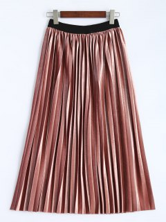 Accordion Pleat Skirt - Deep Pink