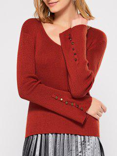 Ribbed Flared Sleeve Jumper - Jacinth S