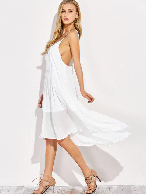 fancy Sexy Backless High Low Slip Dress - WHITE 2XL Mobile