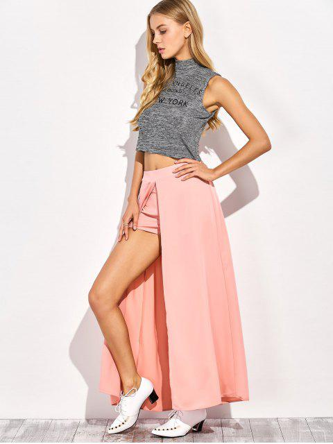 shop Maxi Skirt Shorts - PINK M Mobile