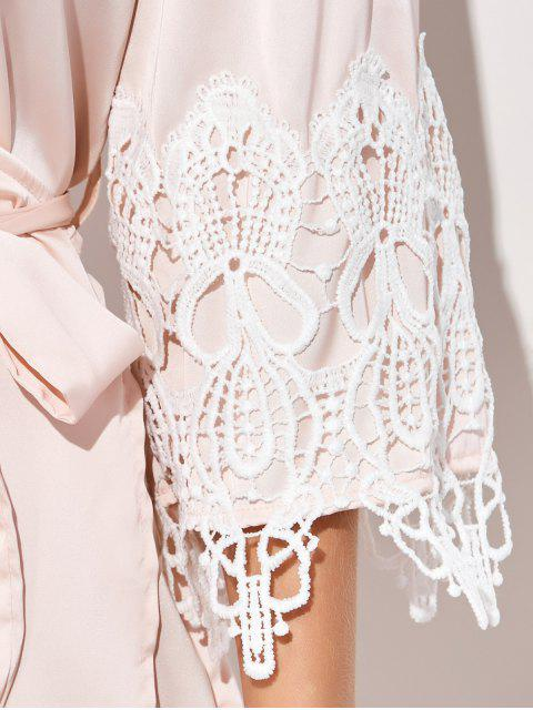 Kimono doux épicé en dentelle - Rose Abricot M Mobile