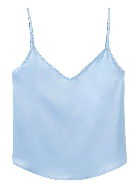 new Adjusted Satin Camisole - LIGHT BLUE L Mobile