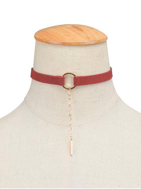 Cadena pendiente de la aleación del collar del ahogador del círculo - Burdeos  Mobile