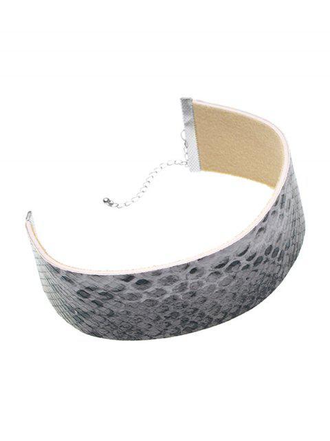 best Faux Snakeskin PU Choker Necklace -   Mobile