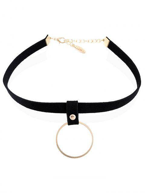 outfit Ring Pendant Velvet Choker - CHAMPAGNE  Mobile