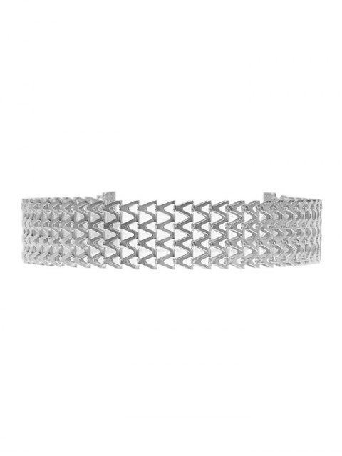 new Geometric V Choker Necklace -   Mobile