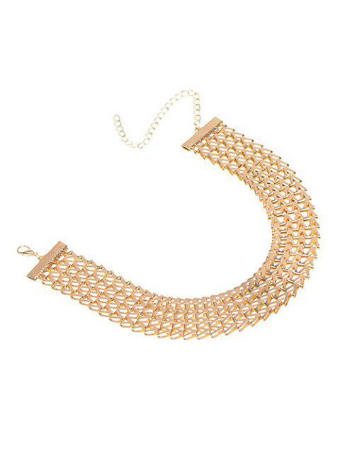 hot Geometric V Choker Necklace -   Mobile