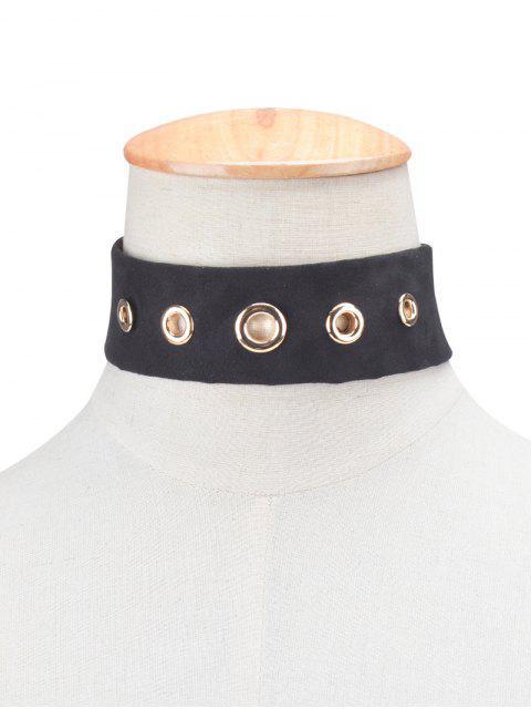 sale Suede Rivet Choker Necklace -   Mobile