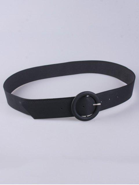 outfits PU Round Buckle Belt - BLACK  Mobile