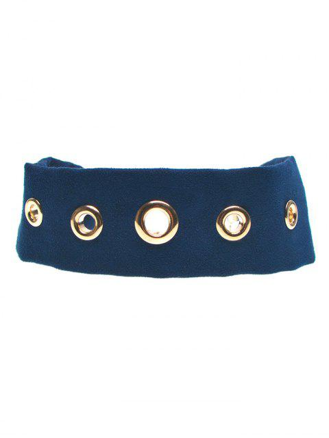 buy Suede Rivet Choker Necklace - CADETBLUE  Mobile