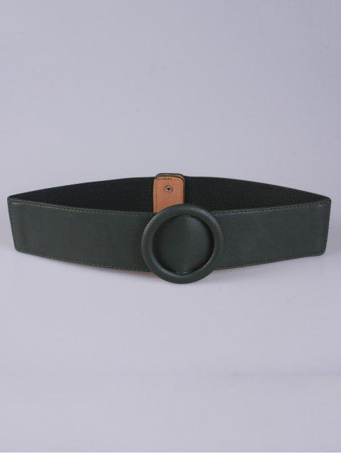 fashion Round Buckle Stretch Belt - OLIVE GREEN  Mobile