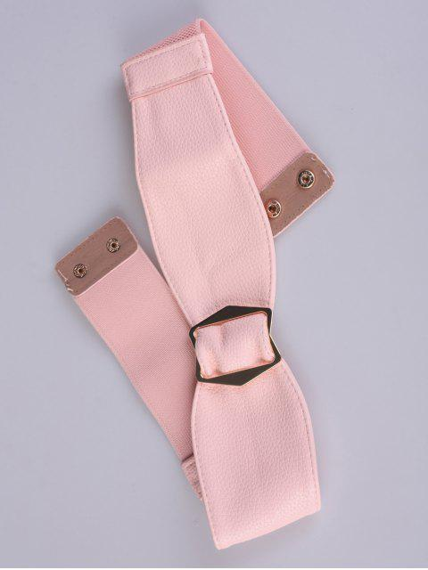 affordable Bowknot Buckle Stretch Belt - SHALLOW PINK  Mobile
