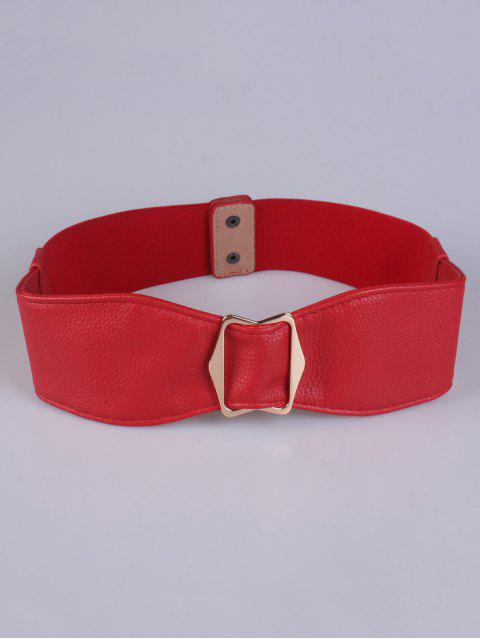 buy Bowknot Buckle Stretch Belt - RED  Mobile