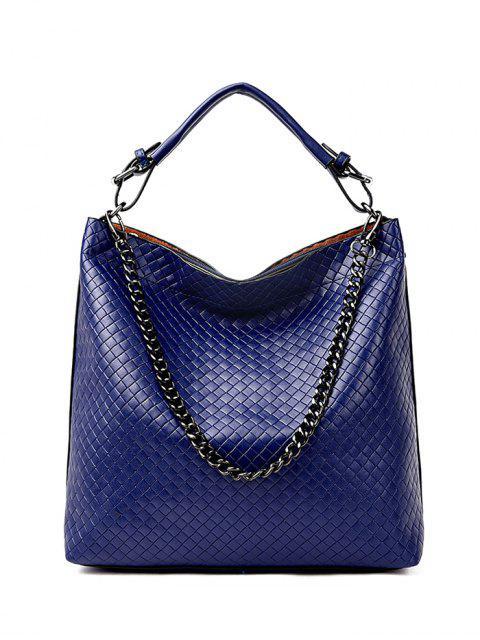 shop Argyle Double Buckle Chain Tote Bag -   Mobile
