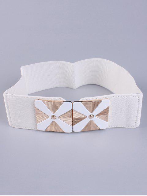 new Square Alloy Stretch Belt - WHITE  Mobile