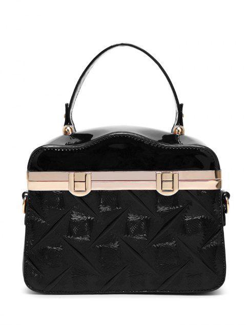 new Embossed Metal Trimmed Handbag -   Mobile