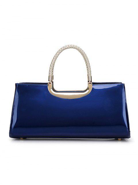 latest Braid Patent Leather Handbag - RED  Mobile