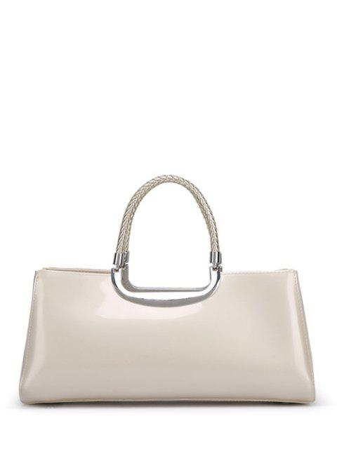 shops Braid Patent Leather Handbag -   Mobile