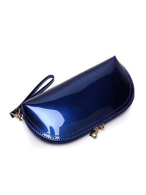 new Zipper Around Patent Leather Wristlet - GOLDEN  Mobile