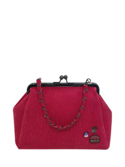latest Ribbed Chain Kiss-Lock Closure Tote Bag -   Mobile