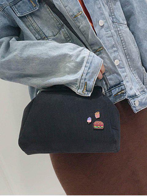 trendy Ribbed Chain Kiss-Lock Closure Tote Bag -   Mobile