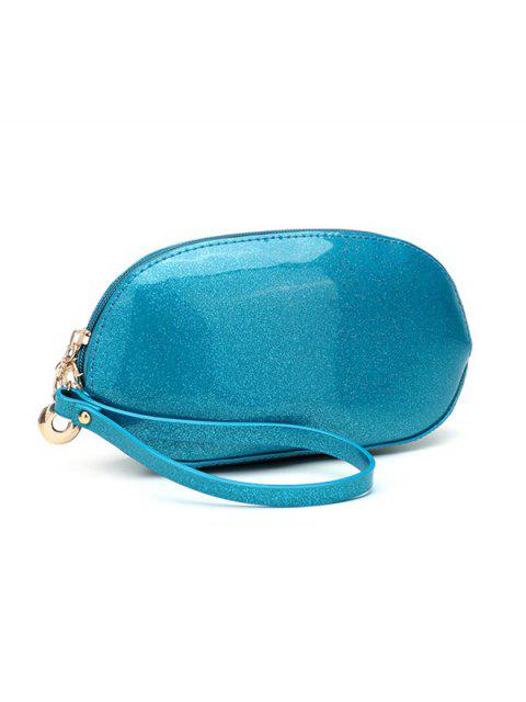 trendy Glitter Zip Around Patent Leather Wristlet -   Mobile