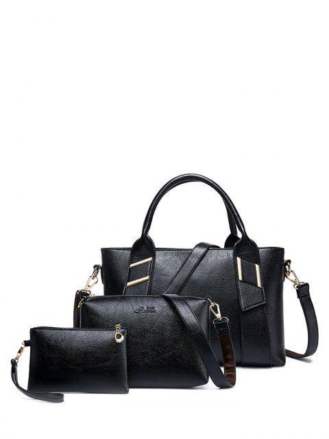 unique Textured PU Leather Handbag Set -   Mobile