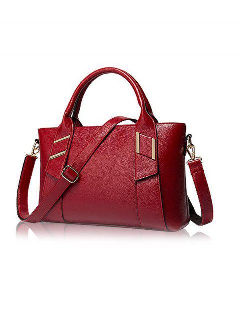 sale Textured PU Leather Handbag Set -   Mobile